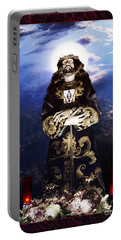 Portable Battery Charger featuring the digital art Nazareno by Rosa Cobos