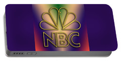 Portable Battery Charger featuring the digital art N B C Logo - Chuck Staley by Chuck Staley