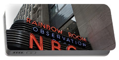 Nbc Studio Rainbow Room Sign Portable Battery Charger