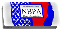 Portable Battery Charger featuring the digital art Nbpa Logo Redesign Sample by Tamir Barkan