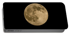 Near Full Moon, Strawberry Moon Portable Battery Charger