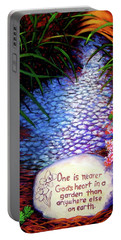 Garden Wisdom, Nearer Portable Battery Charger by Jeanette Jarmon