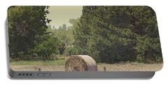 Nebraska Farm Life - Hay Bail Portable Battery Charger