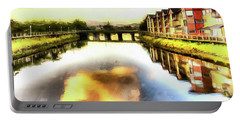 Portable Battery Charger featuring the photograph Necanium River Seaside by Thom Zehrfeld