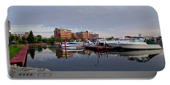 Portable Battery Charger featuring the photograph Neenah Harbor by Joel Witmeyer
