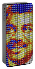 Portable Battery Charger featuring the digital art Neil Degrasse Tyson Art Mosaic by Shawn Dall