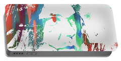 Neil Young Paint Splatter Portable Battery Charger