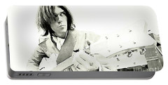Neil Young Watercolor Portable Battery Charger by John Malone