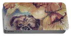 Portable Battery Charger featuring the painting Nellie Mae by Mindy Newman