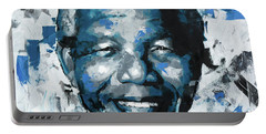 Nelson Mandela II Portable Battery Charger by Richard Day
