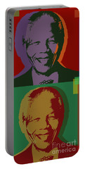 Nelson Mandela Pop Art Portable Battery Charger