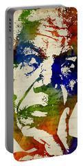 Nelson Mandela Watercolor Portable Battery Charger
