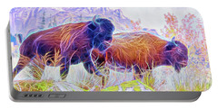 Neon Bison Pair Portable Battery Charger