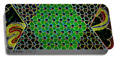Neon Chinese Checkers Portable Battery Charger by Paul W Faust - Impressions of Light