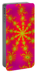 Neon Fractals Portable Battery Charger