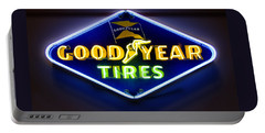 Neon Goodyear Tires Sign Portable Battery Charger