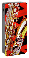 Neon Jazz Sax Portable Battery Charger