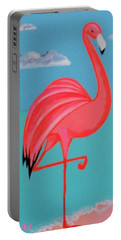 Neon Island Flamingo Portable Battery Charger