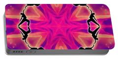 Portable Battery Charger featuring the digital art Neon Slipstream by Derek Gedney