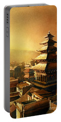 Nepal Temple Portable Battery Charger