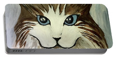 Nerd Cat Portable Battery Charger by Victoria Lakes