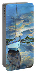Nestled In For The Night At Mylor Bridge - Cornwall Uk - Sailboat  Portable Battery Charger