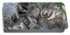 Nestled In Their Den Portable Battery Charger by Laurel Best