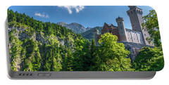Portable Battery Charger featuring the photograph Neuschwanstein Castle by David Morefield