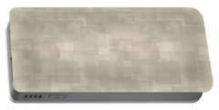 Neutral Brown Abstract Pattern Portable Battery Charger