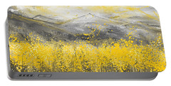 Neutral Sun - Yellow And Gray Art Portable Battery Charger