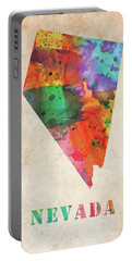 Nevada Colorful Watercolor Map Portable Battery Charger