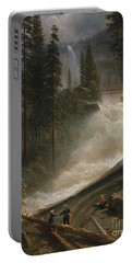 Portable Battery Charger featuring the photograph Nevada Falls Yosemite                                by John Stephens