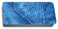 Nevada State Usa 3d Render Topographic Map Blue Border Portable Battery Charger