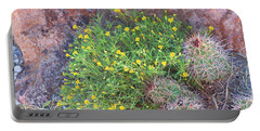 Portable Battery Charger featuring the photograph Nevada Yellow Wildflower by Linda Phelps