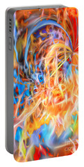 Portable Battery Charger featuring the digital art Never Ending Worship by Margie Chapman