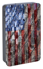 Portable Battery Charger featuring the photograph Never Forget American Sacrifice by DJ Florek