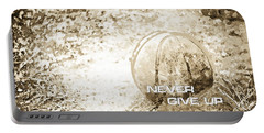 Never Give Up Hebrews Chapter 11 Portable Battery Charger