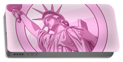 Nevertheless She Persisted Feminism Pink Lady Liberty Portable Battery Charger