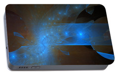 Portable Battery Charger featuring the digital art New Beginning by Jeff Iverson