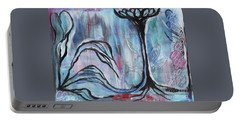 Portable Battery Charger featuring the painting New Beginnings by Angela Armano