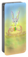 Portable Battery Charger featuring the digital art New Beginnings by Lois Bryan