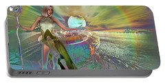 Portable Battery Charger featuring the digital art New Dawn by Shadowlea Is
