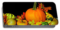 New England Autumn Portable Battery Charger by Barbara S Nickerson