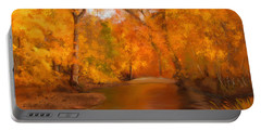 New England Autumn In The Woods Portable Battery Charger