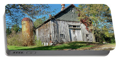 New England Barn With Tiled Silo Portable Battery Charger