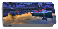 Portable Battery Charger featuring the photograph New England Harbor Sunset - Rockport, Ma by Joann Vitali