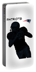 Portable Battery Charger featuring the digital art New England Patriots Football by David Dehner