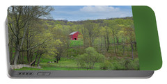 Portable Battery Charger featuring the photograph New England Spring Pasture by Bill Wakeley