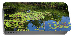 New England Summer Pond Portable Battery Charger by Alan L Graham