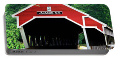 Portable Battery Charger featuring the photograph New Hampshire Covered Bridge by Barbara S Nickerson